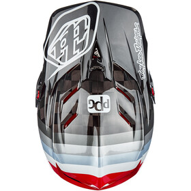 Troy Lee Designs D4 Carbon MIPS Mirage Helm, sram black/red